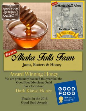 Dark Kiawe Honey