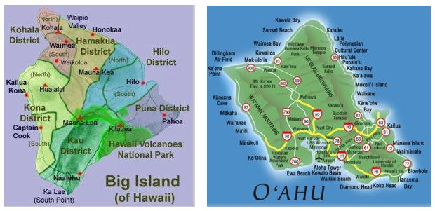 MapsOahuBigIsland